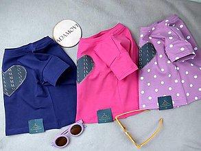 Detské oblečenie - Basic dievčenské tričko srdiečko - 13367317_