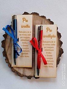 Darčeky pre svadobčanov - Drevené poďakovanie svedkom _viac farieb - 13364837_