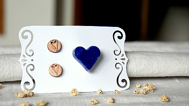 Sady šperkov - keramická sada č.395_ ľúbim modrú - 13368730_