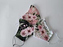 Rúška - VÝPREDAJ dámske dizajnové rúško prémiová bavlna antibakteriálne s časticami striebra dvojvrstvové tvarované - 13367649_