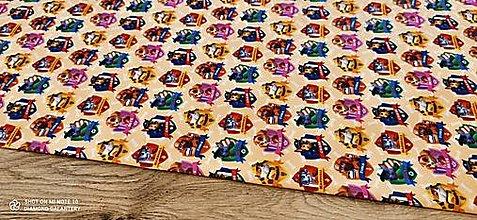 Textil - Teplákovina - Digitálna potlač - Labkova patrola odznaky- cena za 10 centimetrov - 13368040_