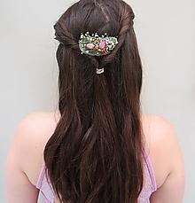 """Ozdoby do vlasov - Kvetinový hrebienok """"Lynn"""" - 13368191_"""