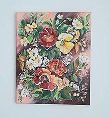 Obrazy - Rozkvitnuté kvety, acryl, 40 x 50 cm - 13368310_
