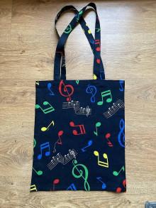Nákupné tašky - Taška cez plece - hudba čierna - 13369417_