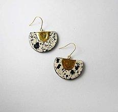 Náušnice - TANA hand made jewellery - keramika/zlato - 13368567_