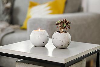 Svietidlá a sviečky - Jemnô v betóne (Vavrín kúbebový, pomaranč) - 13369870_
