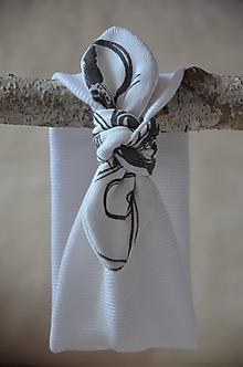 Detské čiapky - Detská čelenka (Biela 34-44 cm,šírka 8 cm) - 13368660_