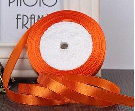 Galantéria - SS101 Stuhy saténové farebné 10 mm / cena za meter (Oranžová) - 13369223_