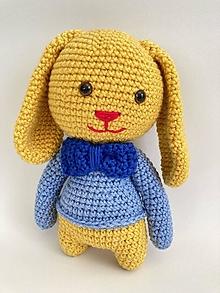 Hračky - Zajac/zajko/zajo hačkovaná hračka - 13369485_