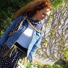 Sukne - Maxi sukne s margarétkami na vrecku - 13372159_