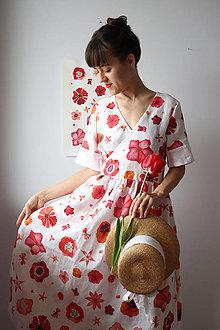 Šaty - Zavinovacie šaty s krátkym rukávom - 13370272_