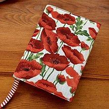 Papiernictvo - obal na knihu vlčie maky - 13370470_