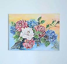 Obrazy - Kvety I., akryl, 50 x 70 cm - 13371081_