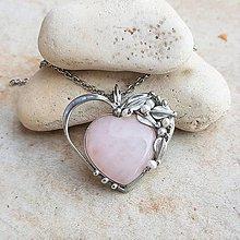 Náhrdelníky - IRENE heart náhrdelník - 13371862_