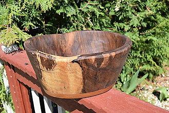 Nádoby - Masívna miska - orech, čerešňa 7 - 13370500_