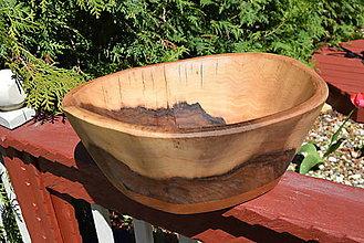 Nádoby - Masívna miska - orech, čerešňa 8 - 13370789_