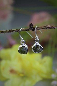 Náušnice - olivínové náušnice - drúzy v striebre - 13371797_