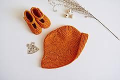 Detské čiapky - Klobúčik pre bábätko (Oranžová) - 13371359_