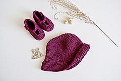 Detské čiapky - Klobúčik pre bábätko (Fuksiová) - 13371364_