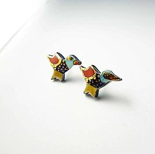 Náušnice - TANA hand made jewellery - keramika/zlato - 13370358_
