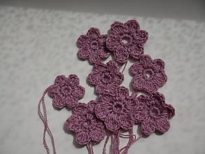 Materiál ručne robený - kvetinky do fialova - 13371272_