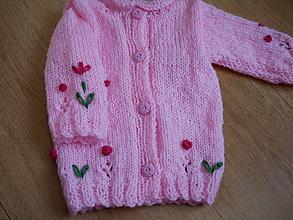 Detské oblečenie - ružový svetrík - cca 1/2 roka - 13371345_