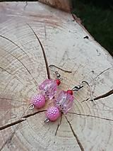 Náušnice - Trblietavé náušničky  ružové - 13370320_