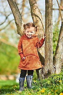 Detské oblečenie - Šaty tehlové - 13370496_