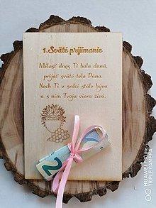 Papiernictvo - Drevena pohľadnica k 1. Svätému prijímaniu - 13370163_