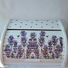 Nádoby - Chlebník-  levanduľa a včielky - 13375651_