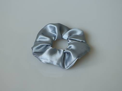 Scrunchies gumička saténová (šedá)