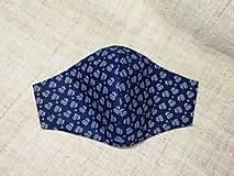 Rúška - Rúška modro biele antibakteriálne,skladom - 13372820_