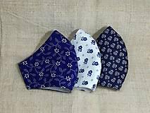 Rúška - Rúška modro biele antibakteriálne,skladom - 13372821_