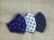 Rúška - Rúška modro biele antibakteriálne,skladom - 13372822_