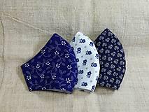 Rúška - Rúška modro biele antibakteriálne,skladom - 13372823_
