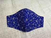 Rúška - Rúška modro biele antibakteriálne,skladom - 13372824_