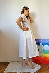 Šaty - Zavinovacie šaty béžové - 13372694_