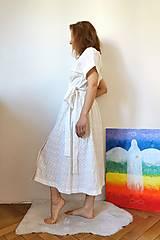 Šaty - Zavinovacie šaty béžové - 13372697_