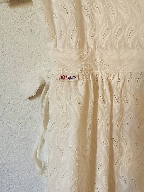 Zavinovacie šaty béžové