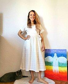 Šaty - Zavinovacie šaty béžové - 13372695_
