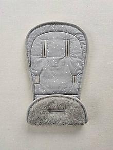 Textil - VLNIENKA podložka do kočíka TUDORE Trapper 100% merino Top Super wash Grey Hviezdička šedá  - 13375541_