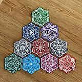 Magnetky - Maľované magnetky - mandalky / kvety - 13373255_