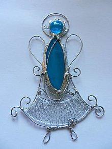 Dekorácie - Modrý anjel - 13372802_