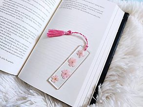 Papiernictvo - Záložka do knihy s kvetmi - 13373529_