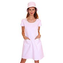 Šaty - Annie - pohodlné šaty, biele - 13375333_