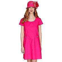 Šaty - Annie - pohodlné šaty, ružové, bavlna OekoTex - 13375448_