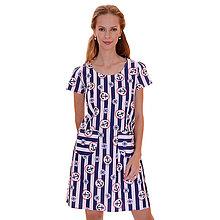 Šaty - Annie (kotvy) - pohodlné šaty, bavlna OekoTex - 13375455_