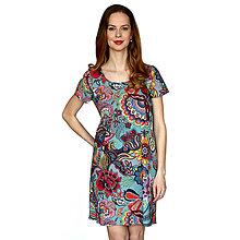 Šaty - Annie (kvety na mintovej) - pohodlné šaty, bavlna OekoTex - 13375494_
