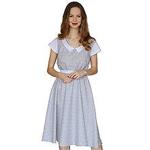 Šaty - Lola (origami) - elegantné šaty, bavlna Oeko tex - 13375582_