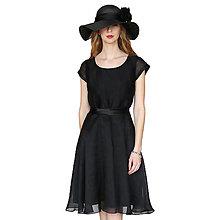 Šaty - Lola - elegantné šaty, čierne, 50% hodváb + 50% bavlna - 13375611_